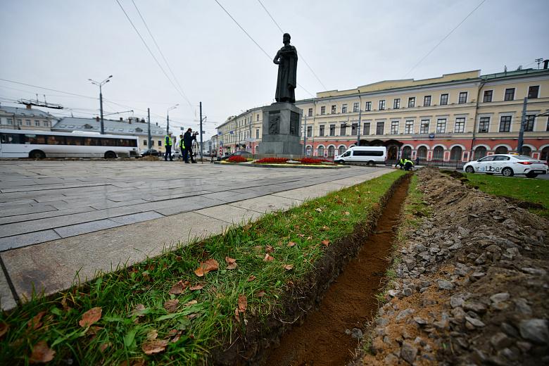 У памятника Ярославу Мудрому появится современная система освещения