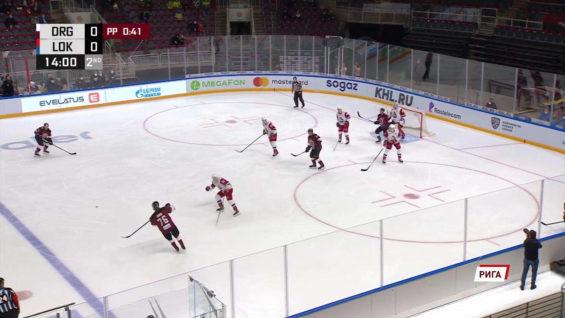 «Локомотив» в гостях выиграл у рижского «Динамо» в очередном матче регулярного чемпионата КХЛ