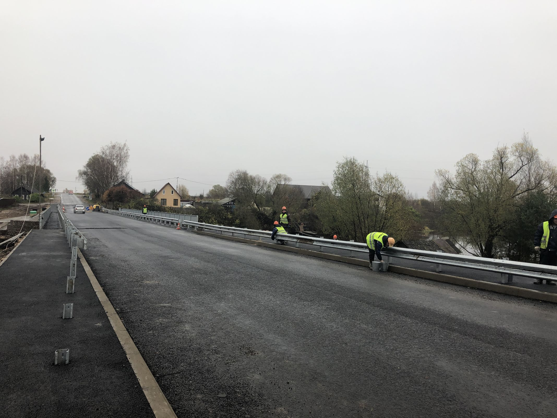 На дороге Сергиев Посад – Калязин – Рыбинск – Череповец завершили ремонт предаварийного моста