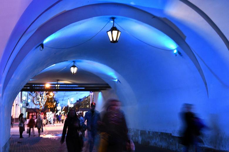 Подсветка в арке Знаменской башни теперь будет включаться и выключаться автоматически
