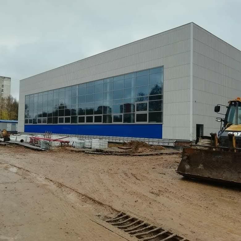 Строительство уникального для региона ФОКа постепенно завершается в Дзержинском районе Ярославля