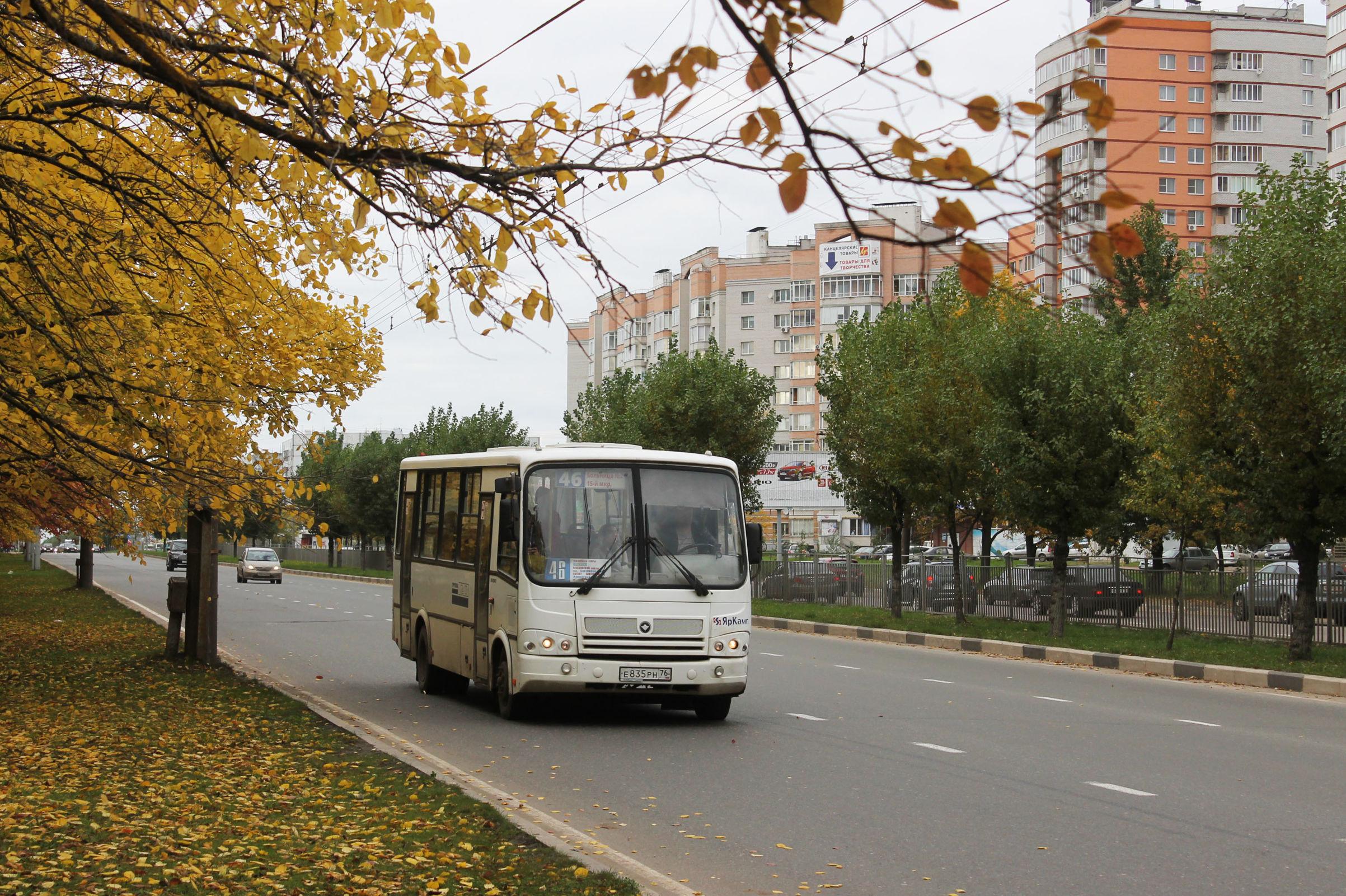 В Дзержинском районе Ярославля одна маршрутка врезалась в другую