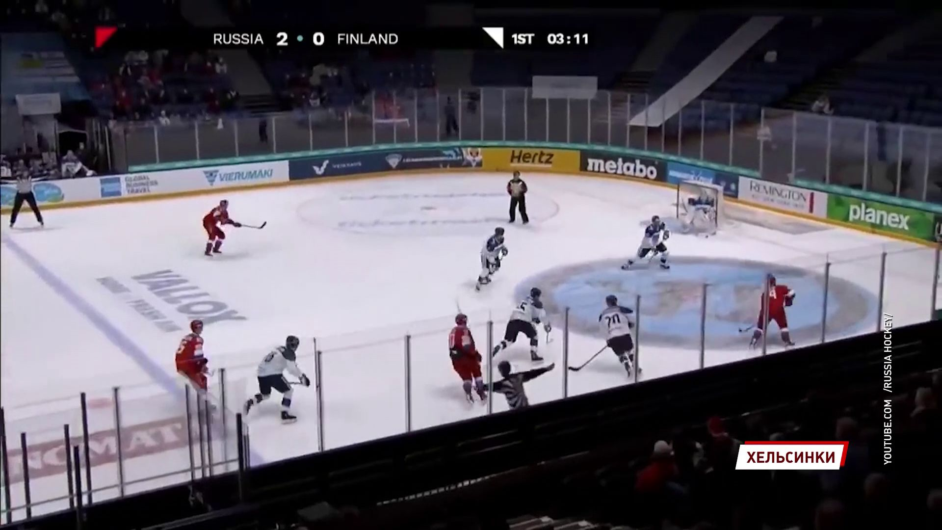 Сборная России по хоккею разгромила финнов на первом этапе Евротура