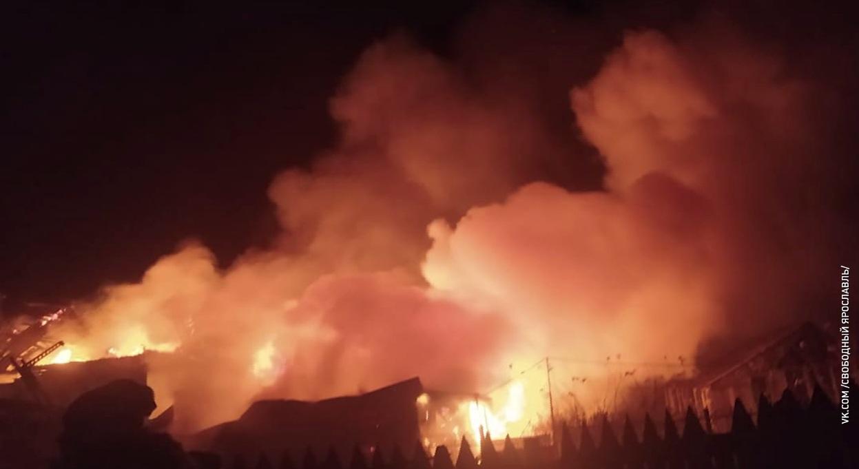 В селе Устье сгорел дачный дом