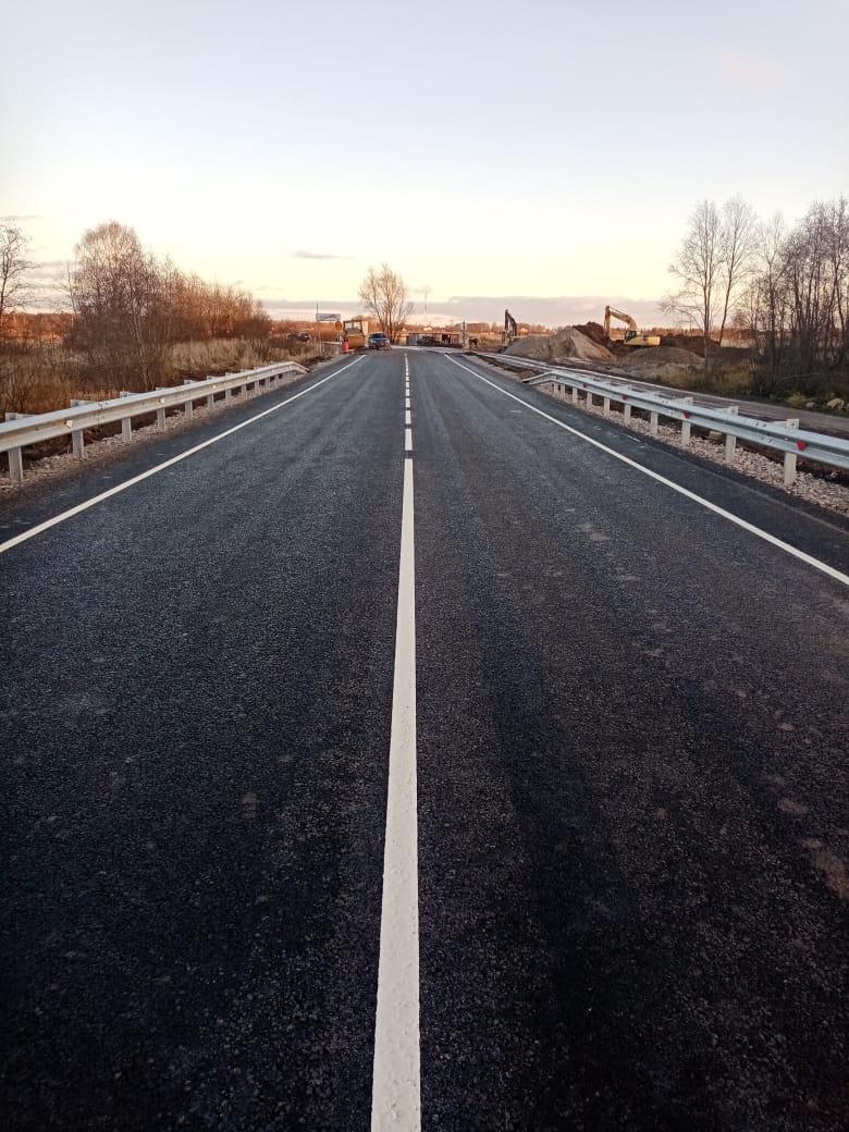 В Ярославском районе построили новый мост через реку Кондру