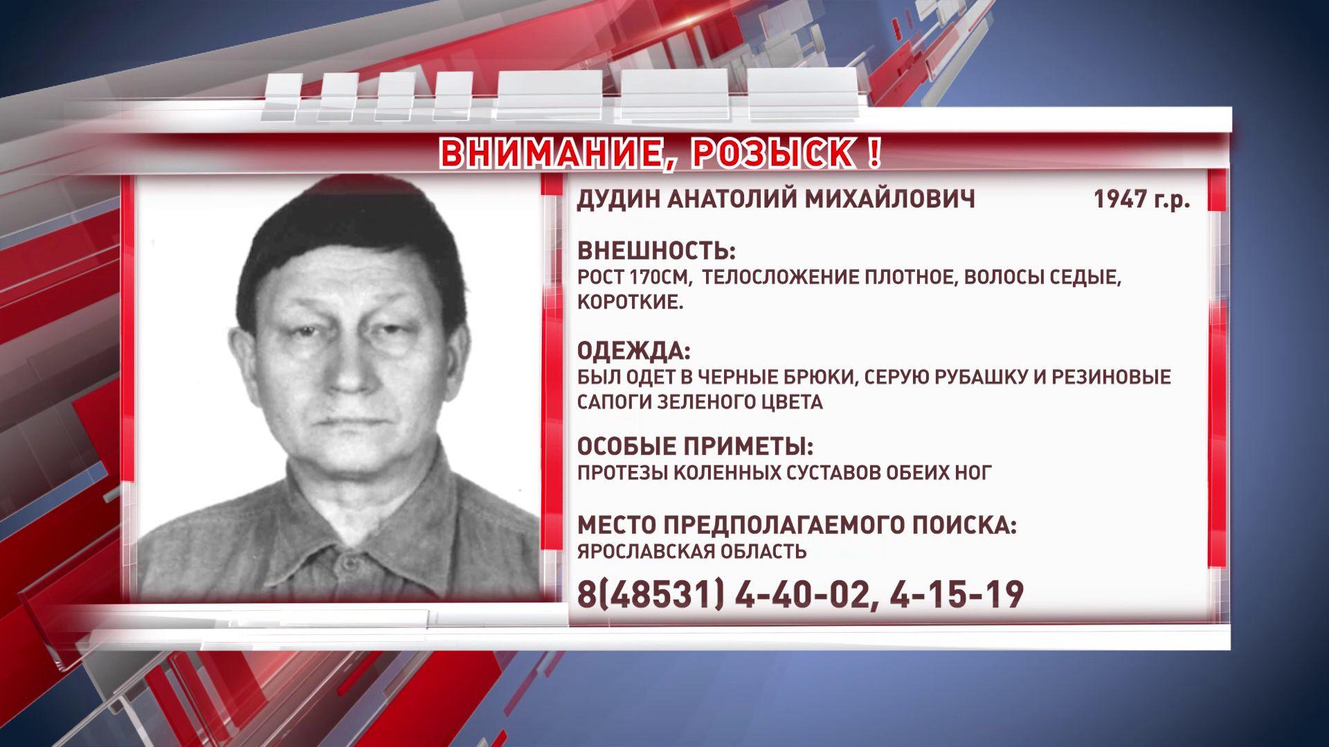 В Ярославской области ищут 73-летнего мужчину