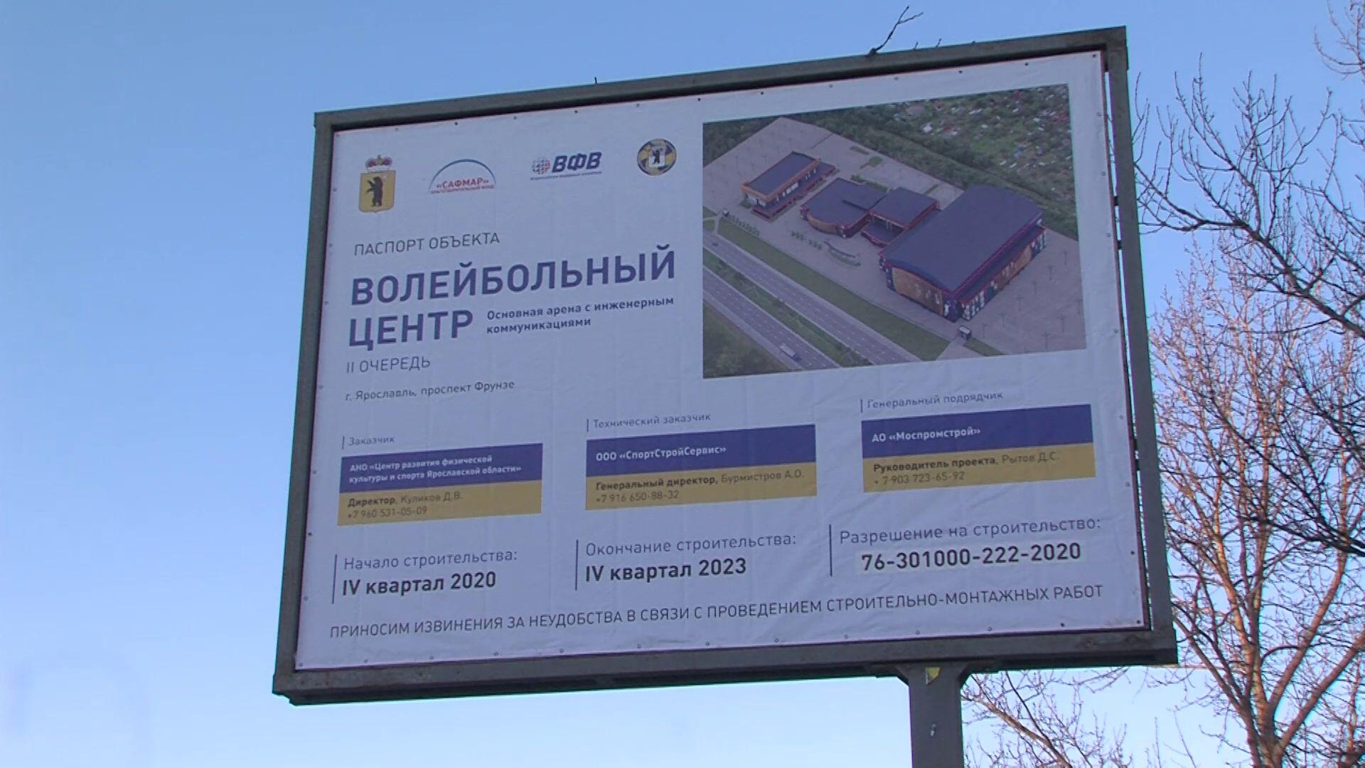 В Ярославле приступили к строительству долгожданного волейбольного центра