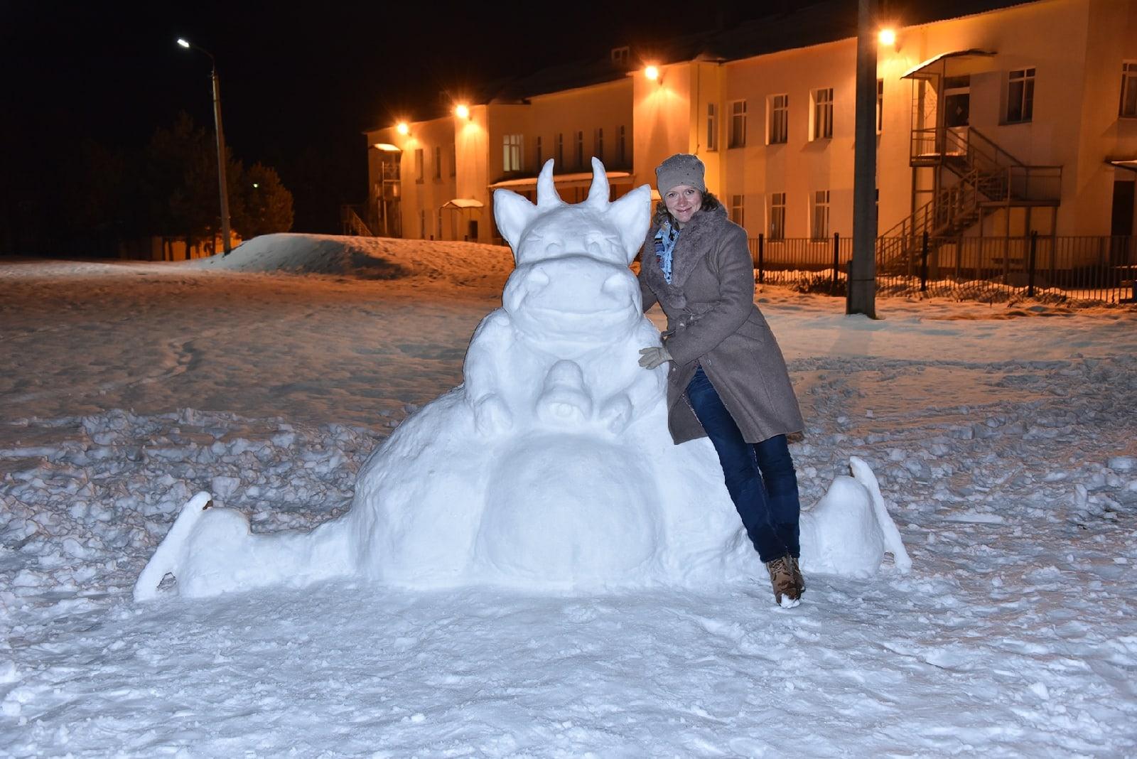 В Рыбинске появилась «корова на льду»