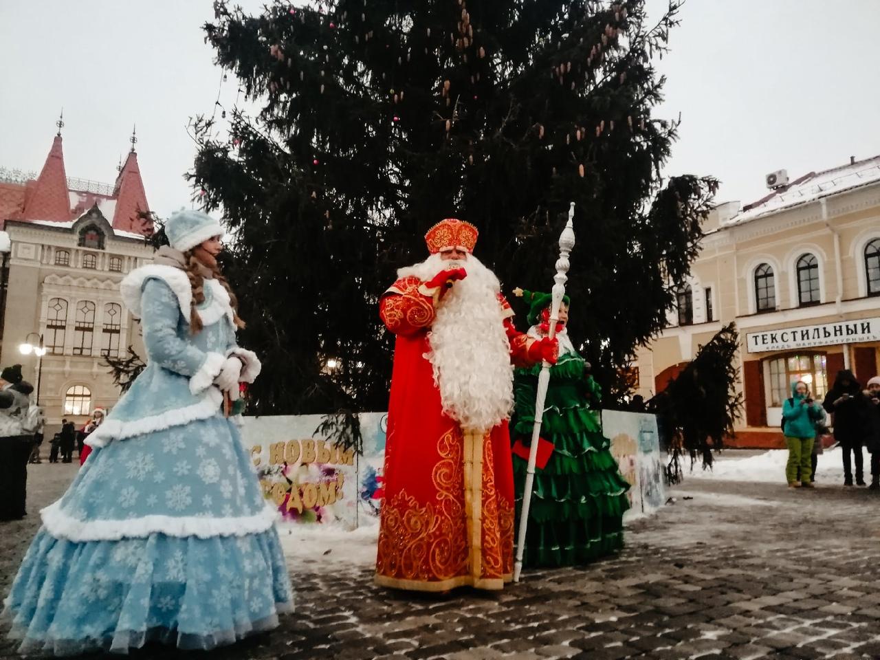 Главный Дед Мороз России зажег огни на рыбинской елке