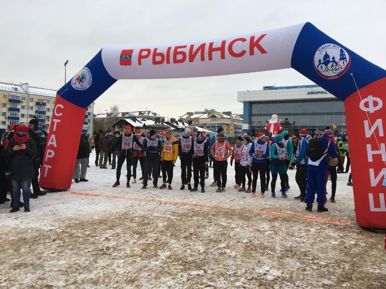 В Рыбинске в 29-й раз прошел предновогодний забег