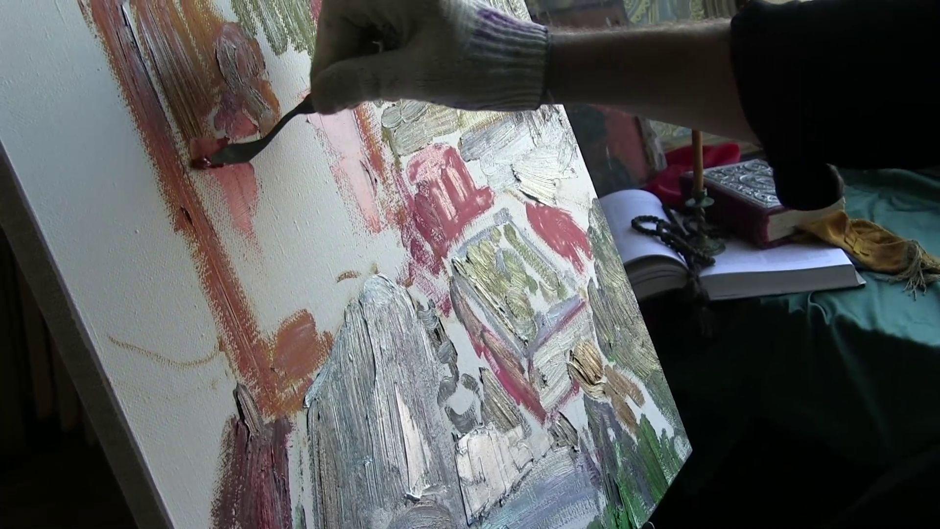 художник Василий Шиханов поделился секретами мастерства с осужденными рыбинской колонии