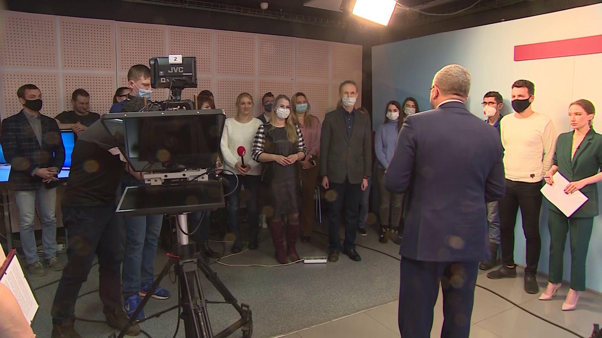 Алексей Константинов поздравил «Первый Ярославский» с наступающими праздниками
