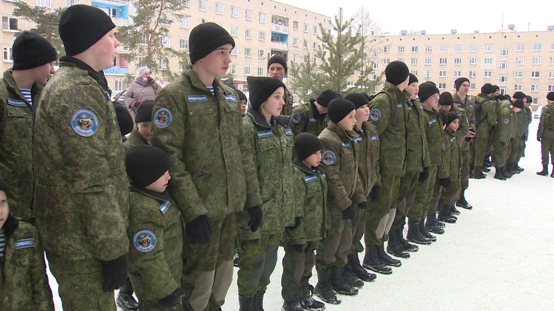 В профильном военно-патриотическом клубе Ярославля прошло торжественное построение