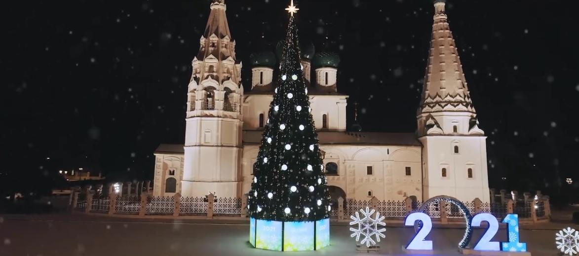 По соцсетям разлетелись кадры новогоднего Ярославля