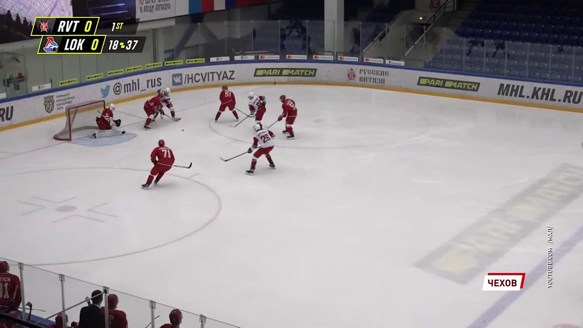 Молодежная хоккейная команда «Локо» разгромила в гостях «Русских Витязей»
