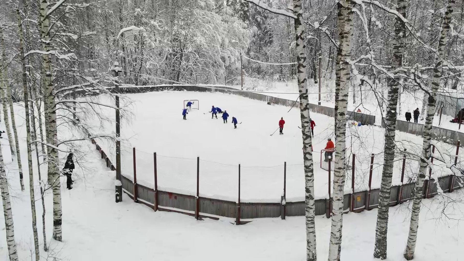 Юным хоккеистам из поселка Борок подарили настоящую экипировку