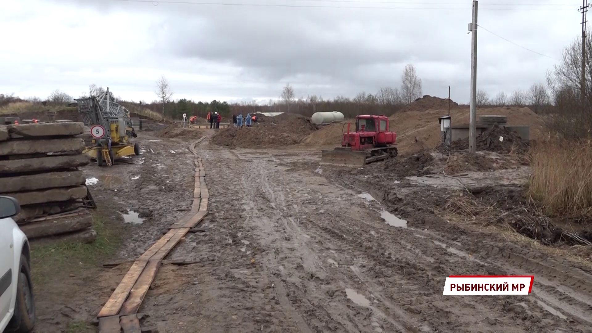 В поселке Тихменево идет строительство новых очистных сооружений
