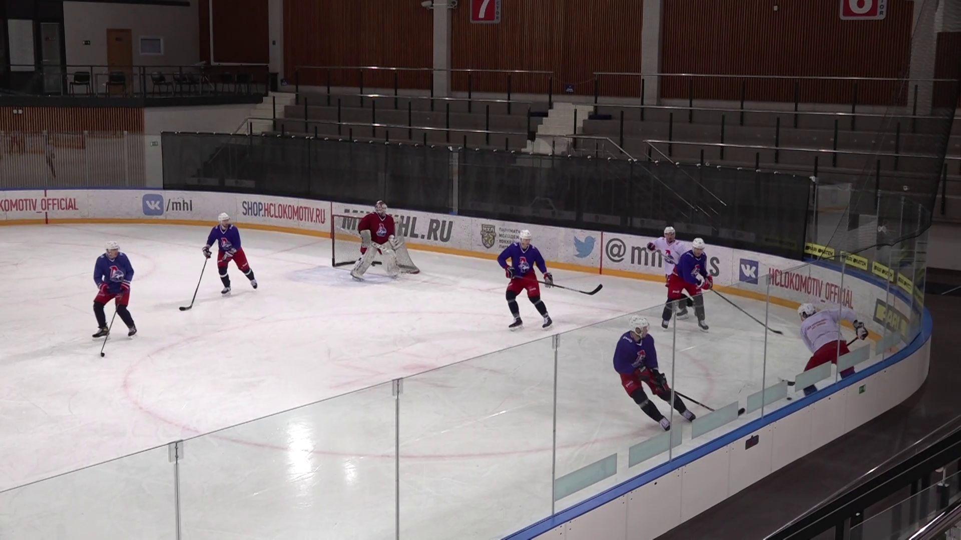 Ярославский «Локомотив» провел очередную тренировку на своей базе на проспекте Фрунзе