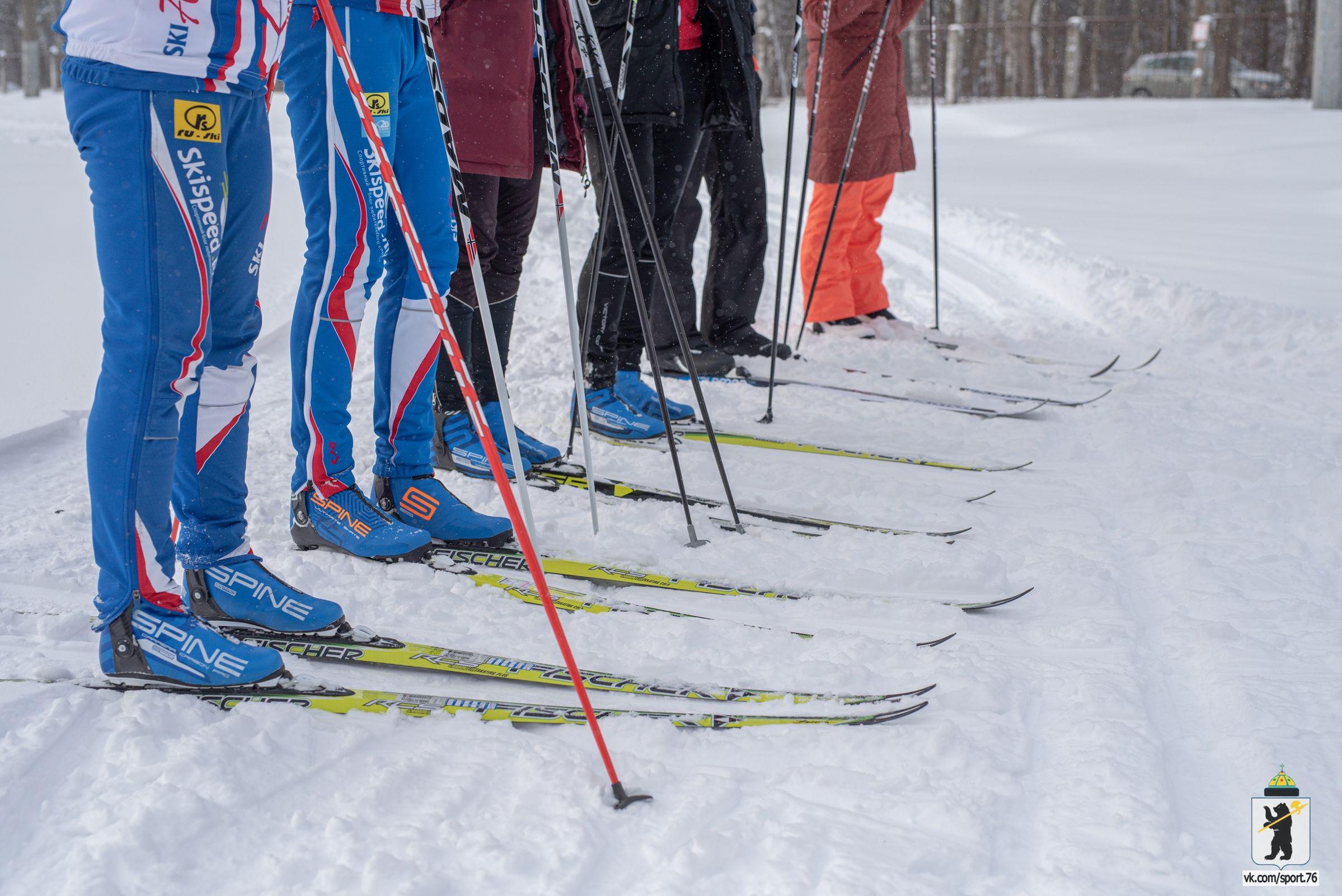 В Ярославле прошел «Забег влюбленных на лыжах»