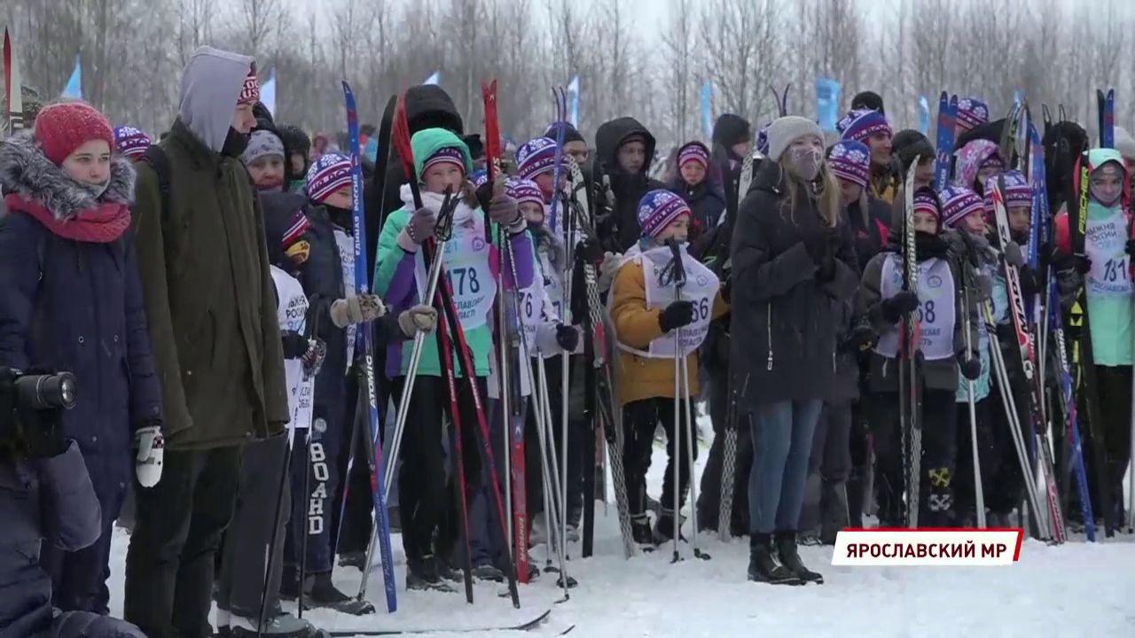 В Ярославле прошла массовая снежная гонка на лыжах