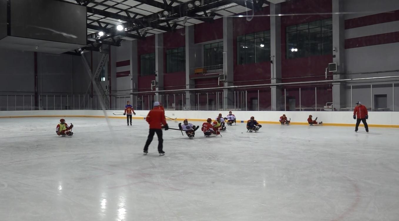 В Ярославле прошли совместные тренировки местной и тульской юношеских команд по следж-хоккею