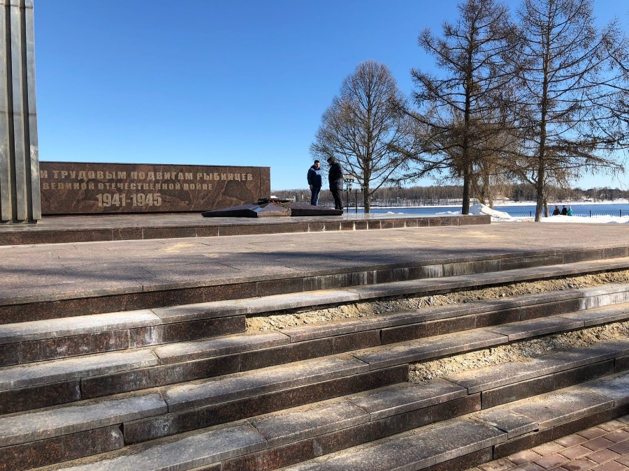 Мемориал «Огонь Славы» в Рыбинске отремонтируют по гарантии
