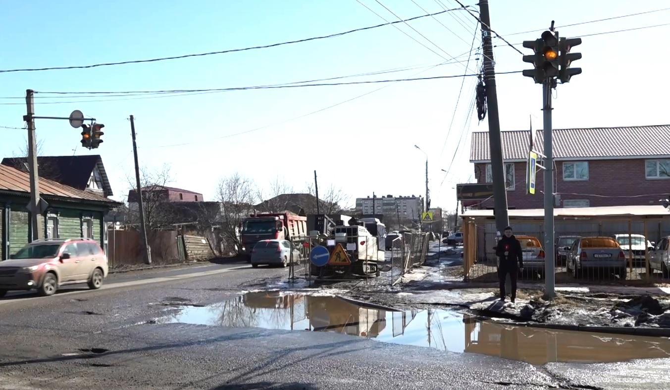 На улице Мельничной в Ярославле закипает большой ремонт