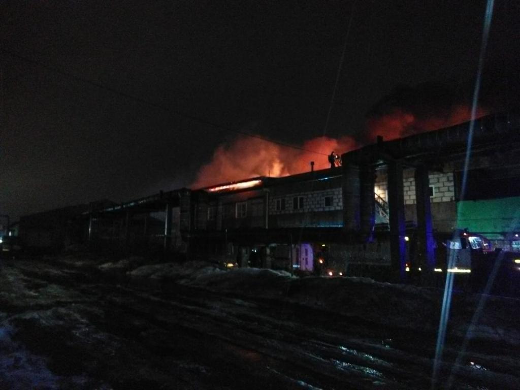 Пожар на заводе «Магма» в Рыбинске тушили всю ночь
