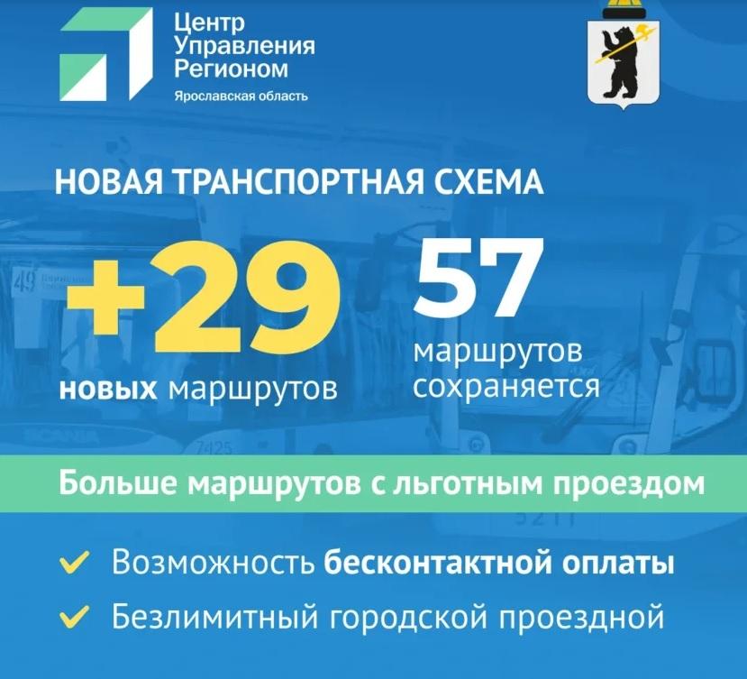 Мэрия Ярославля представила новую транспортную схему