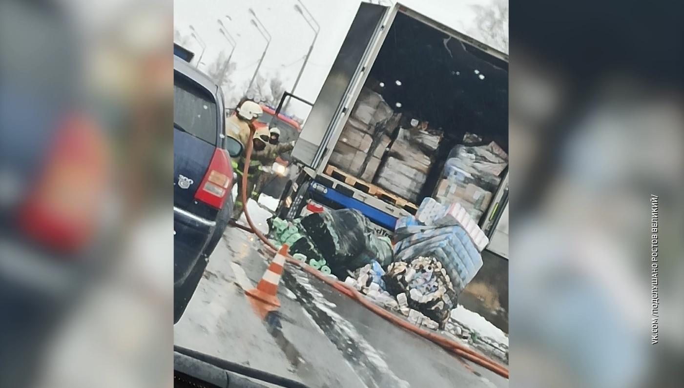 На трассе в Гаврилов-Ямском районе сгорела фура