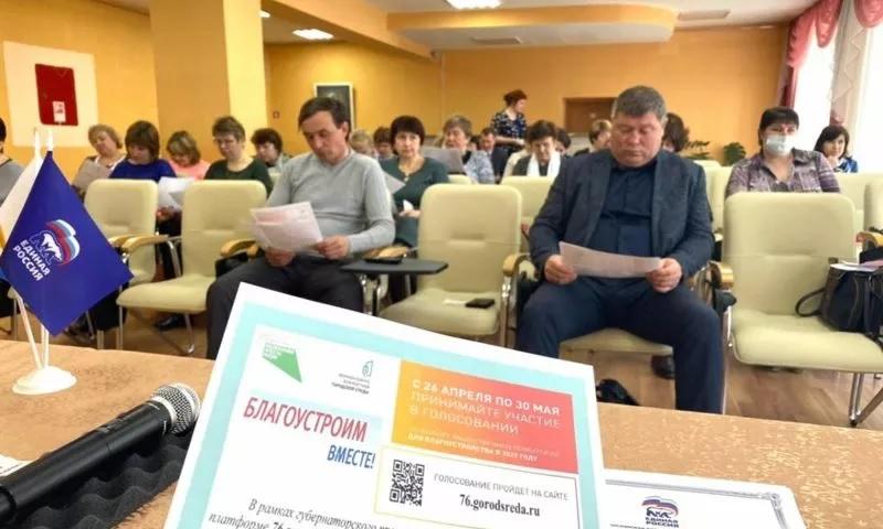 Ольга Хитрова обсудила с жителями Большесельского района вопросы благоустройства