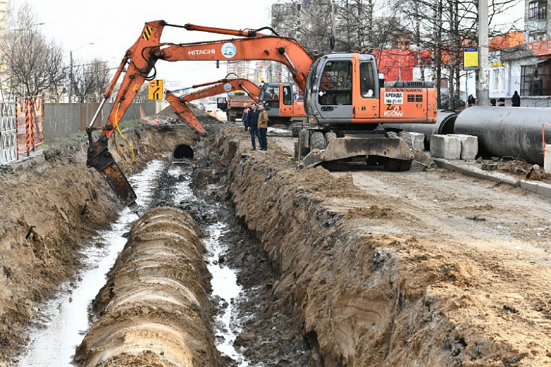 Ремонт сетей на проспекте Машиностроителей завершат в конце апреля