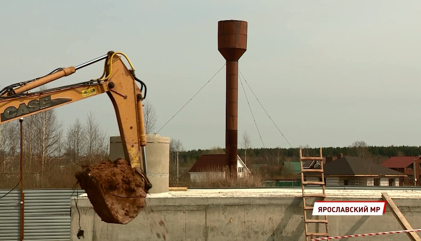 В Красных Ткачах строят современную водоподготовительную станцию