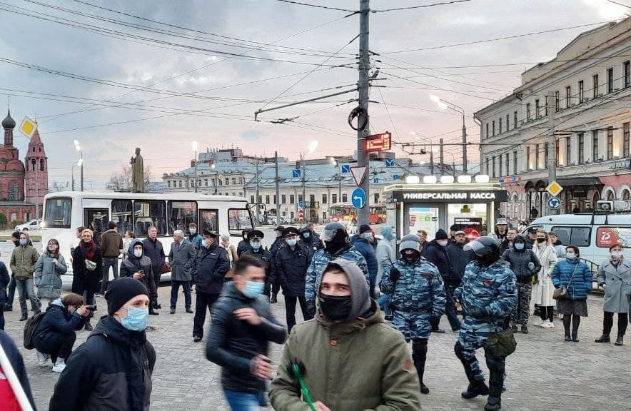 Полный провал: на митинг в поддержку Навального в Ярославле пришли всего 0,05% жителей