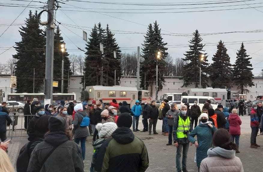 Общественник: полицейские на незаконной акции в центре Ярославля работали профессионально и очень корректно