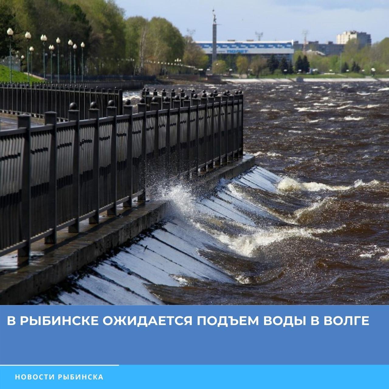 Администрация Рыбинска предупредила о возможном подтоплении набережной