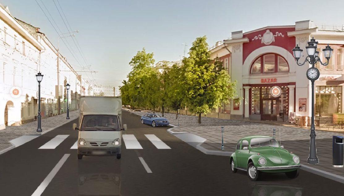 Уберут заборы и расширят тротуар: в Ярославле представили проект реконструкции улицы Комсомольской