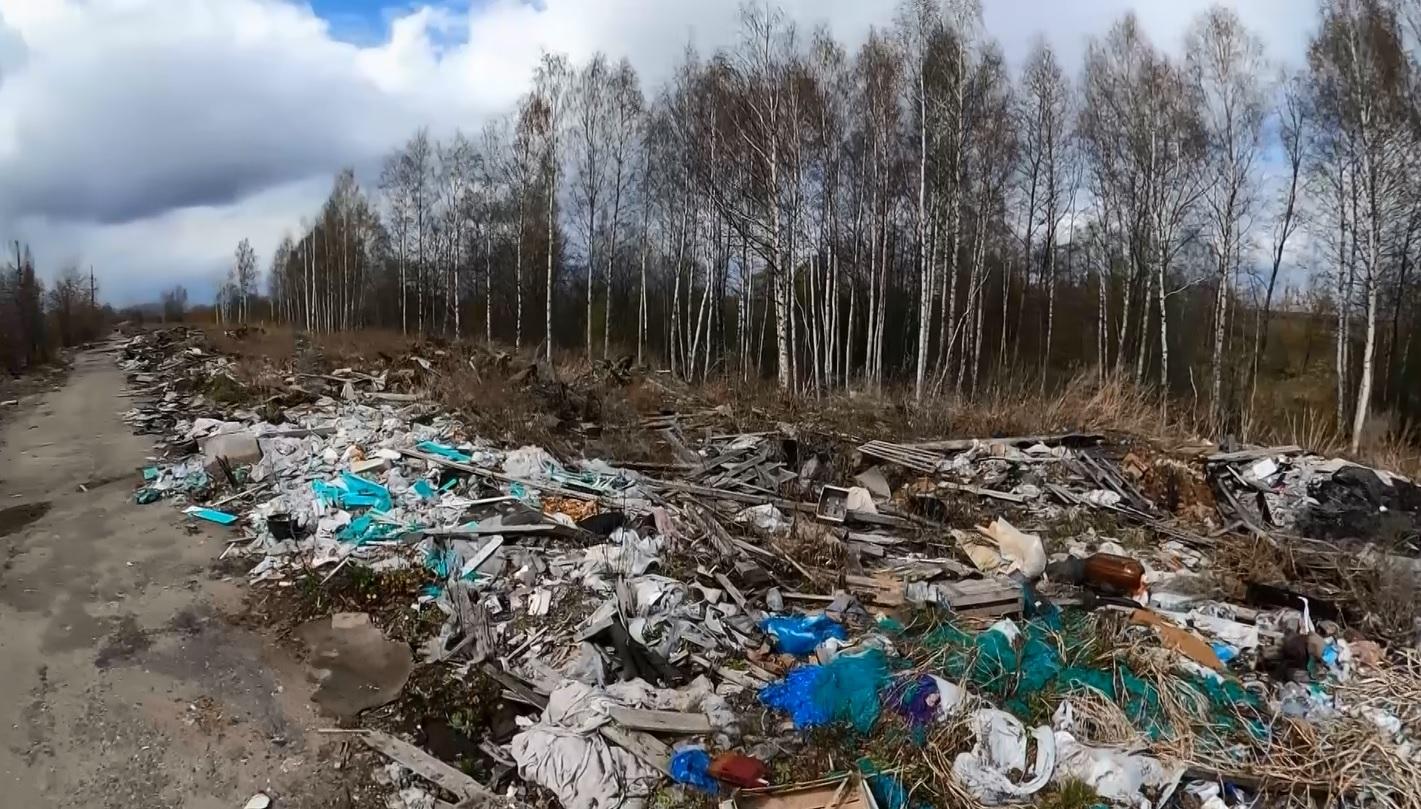 Весенние проблемы: в Ярославле свалки мусора растягиваются на сотни метров