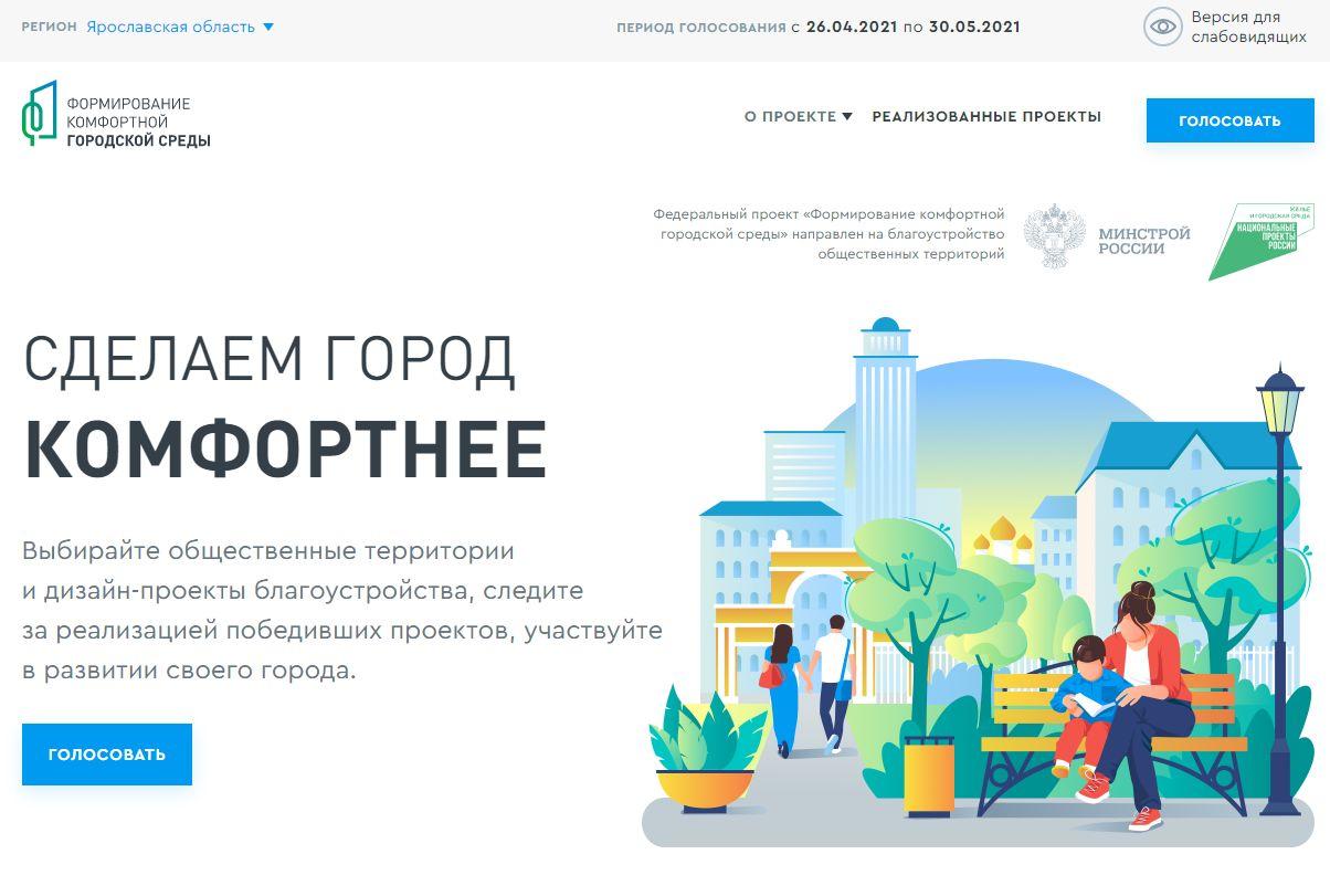 Более 40 тысяч человек уже проголосовали за объекты благоустройства в Ярославской области