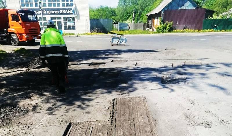 К концу весны в Рыбинске выполнена половина плана ямочного ремонта