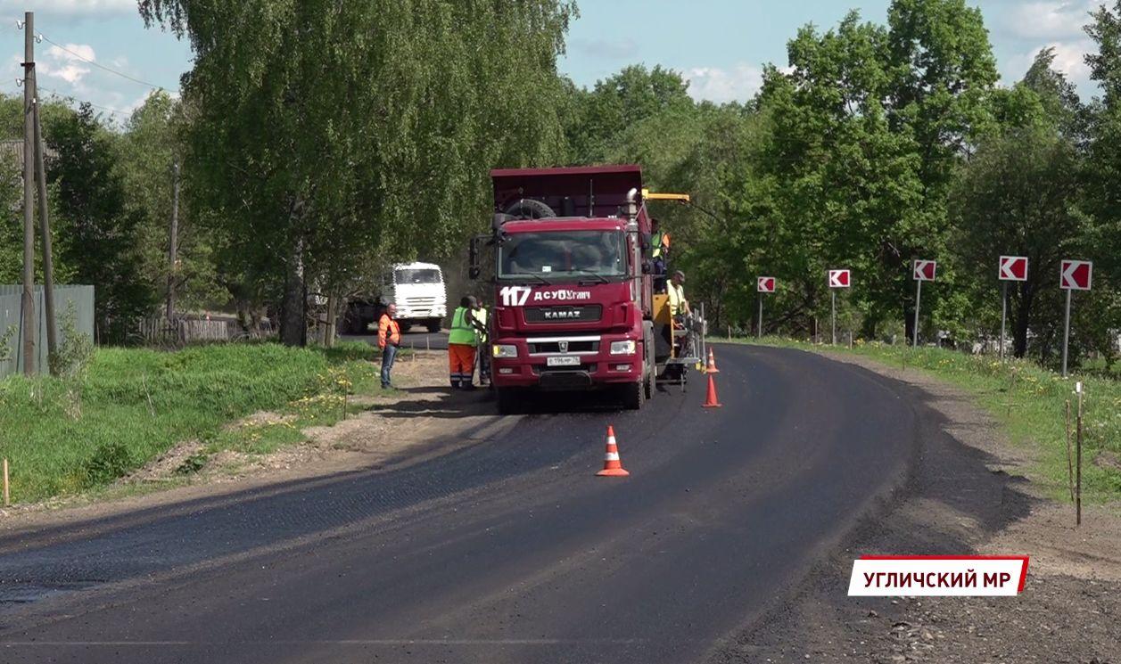 В Ярославской области начали ремонт трассы, связывающей Углич и Брейтово