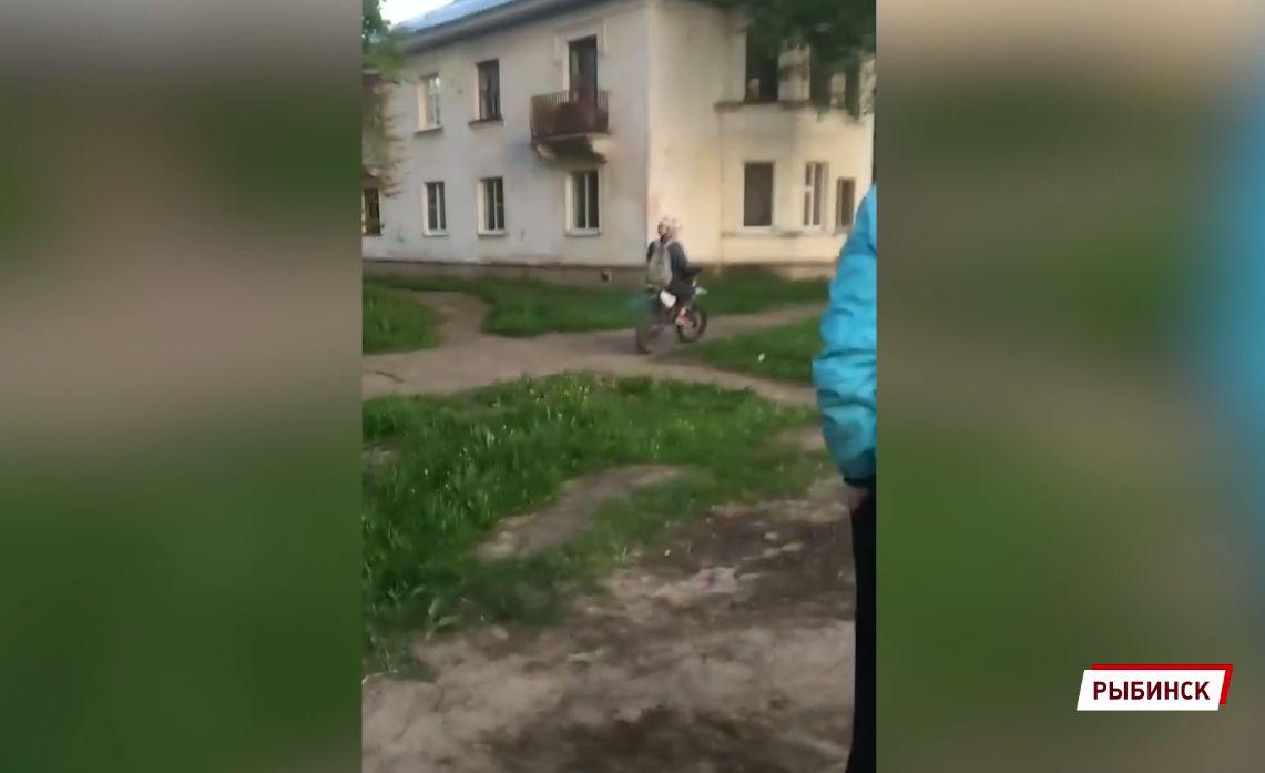 В Рыбинске полицейские в результате погони поймали 15-летнего мотоциклиста