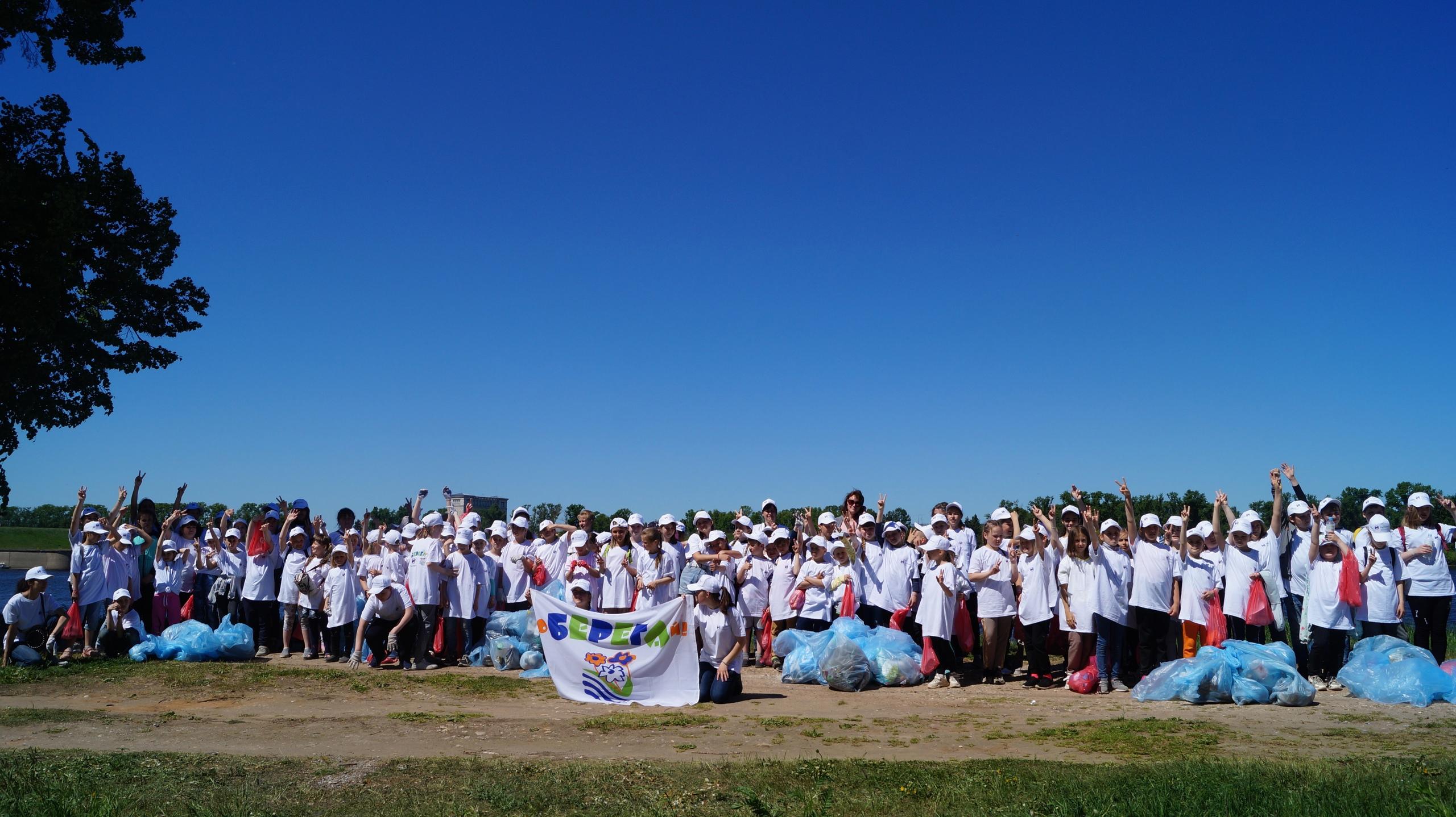 Воспитанники Дома детского творчества освободили берега Волги от мусора
