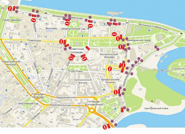 В День России перекроют движение транспорта в центре Ярославля