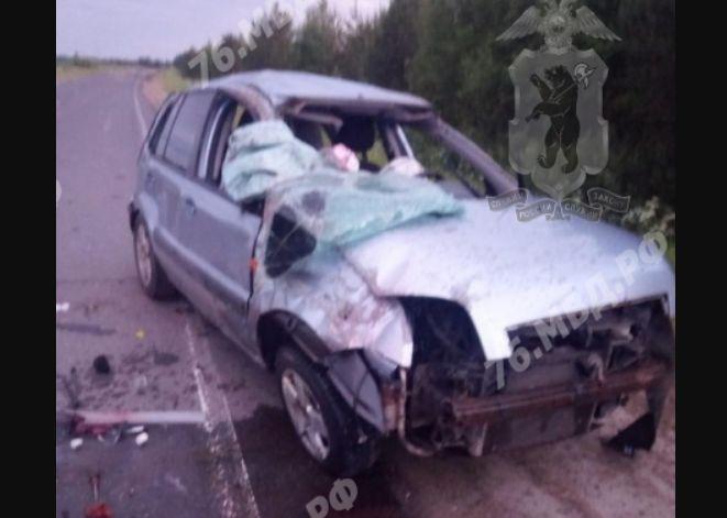В страшной аварии в Ярославской области погиб мужчина и пострадала трехлетняя девочка