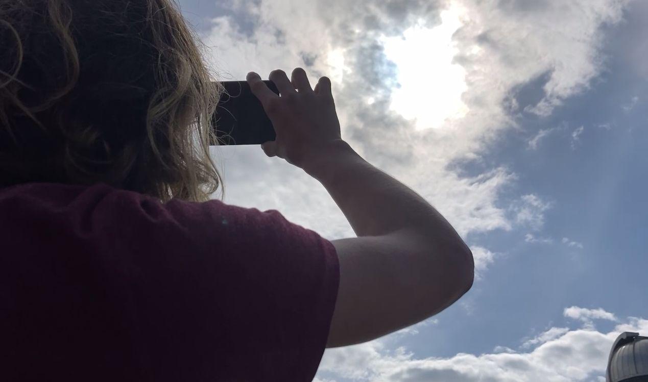 Ярославцы наблюдали кольцеобразное солнечное затмение