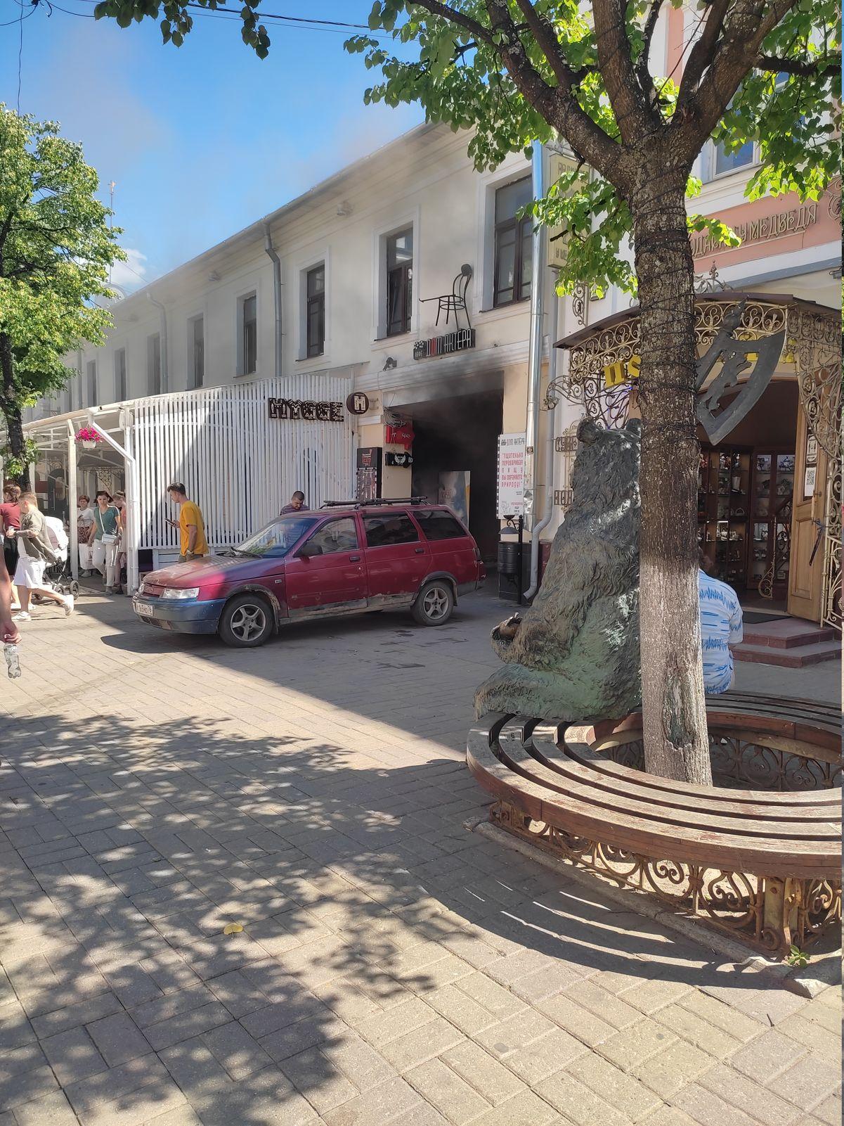В центре Ярославля горело кафе на улице Кирова