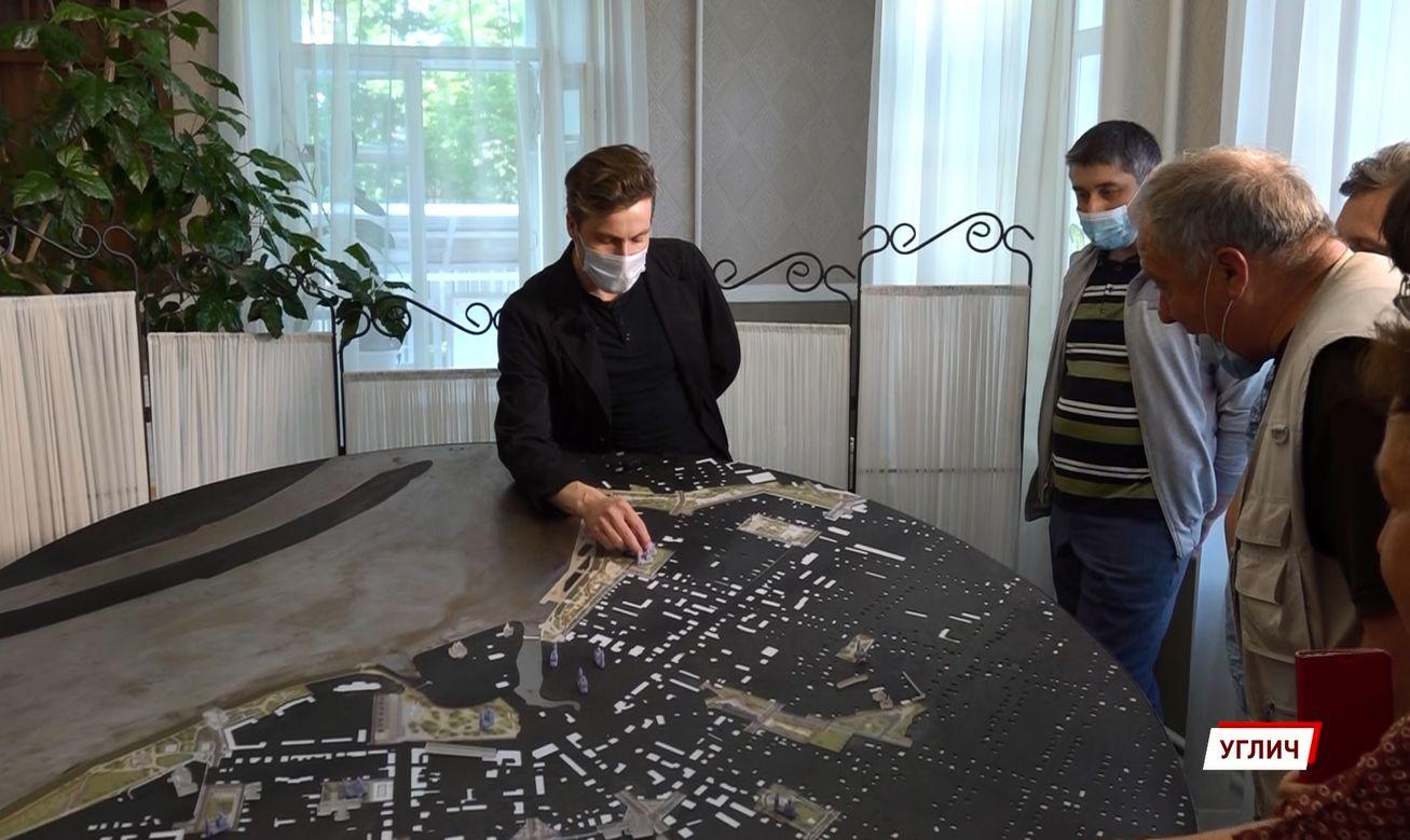 Макет городских пространств Углича поразил московских урбанистов: как могут поменять облик города