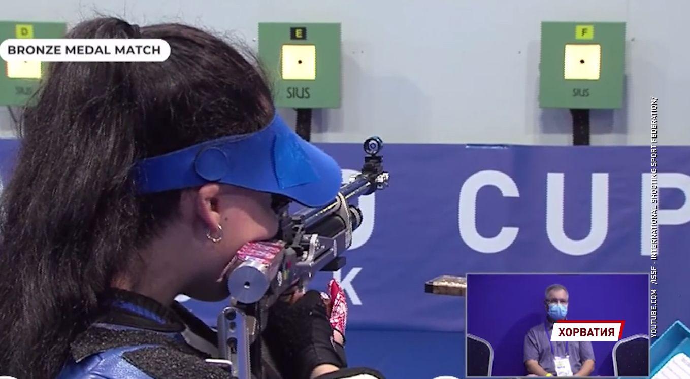Ярославна завоевала вторую награду на Кубке мира по пулевой и стендовой стрельбе