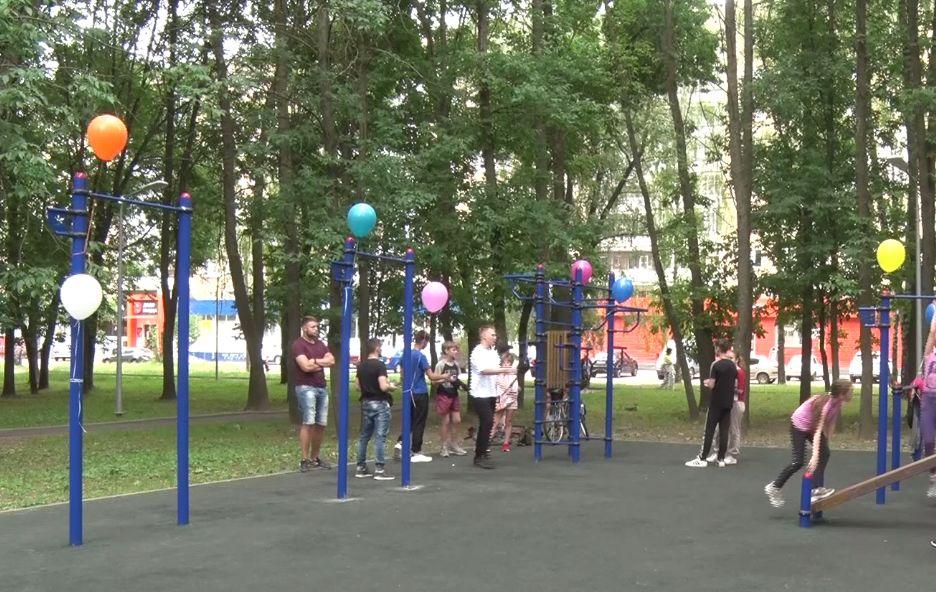 В Дзержинском районе Ярославля открыли новую площадку для воркаута